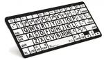 LogicKeyboard Large Print Black on White Bluetooth Mini Keyboard For Apple iPad and iPhone - Tablet not Included