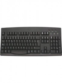 SPANISH Language Keyboard Black Keys with White Letters Characters - Wired USB (Windows)