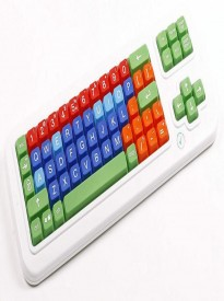 Clevy Large Print Mechanical and solid spill proof Color coded Keyboard - Uppercase and Colorful Large Keys -102781