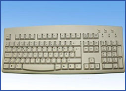 Danish USB Wired Ivory Keyboard