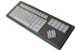 AbleNet BigKeys QWERTY LX Large Print Computer Keyboard USB Wired