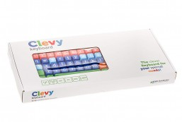 Clevy Color Coded Bluetooth Wireless Keyboard, Large Letters and Colorful Keys