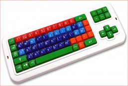 Clevy Color Coded Norwegian Computer Keyboard
