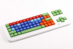 Clevy Color Coded US Computer Keyboard with Uppercase White Lettering