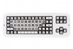 Clevy Italian Contrast Keyboard with Uppercase Lettering