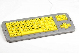 Clevy Large Print Mechanical and solid spill proof Keyboard Uppercase