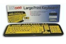 EZ See Large Print USB Wired Keyboard Bundled