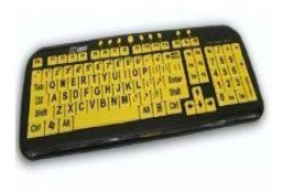 EZ See Large Print USB Wired Keyboard Bundled with Custom Made