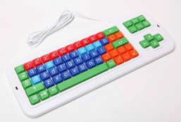 Clevy Large Print Mechanical and solid spill proof Color coded Keyboard - Lowercase and Colorful Keys