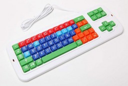 Clevy Large Print Mechanical and solid spill proof Color coded Keyboard