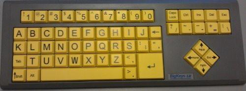 AbleNet BigKeys LX ABC Large Print USB Keyboard - Yellow Keys with Black Characters 12000012