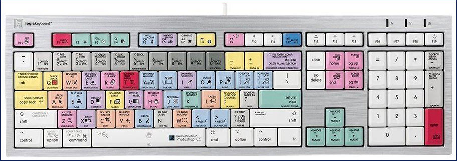 Logickeyboard LKBU-PHOTOCC-CWMU-US, Adobe Photoshop CC Mac ALBA Keyboard