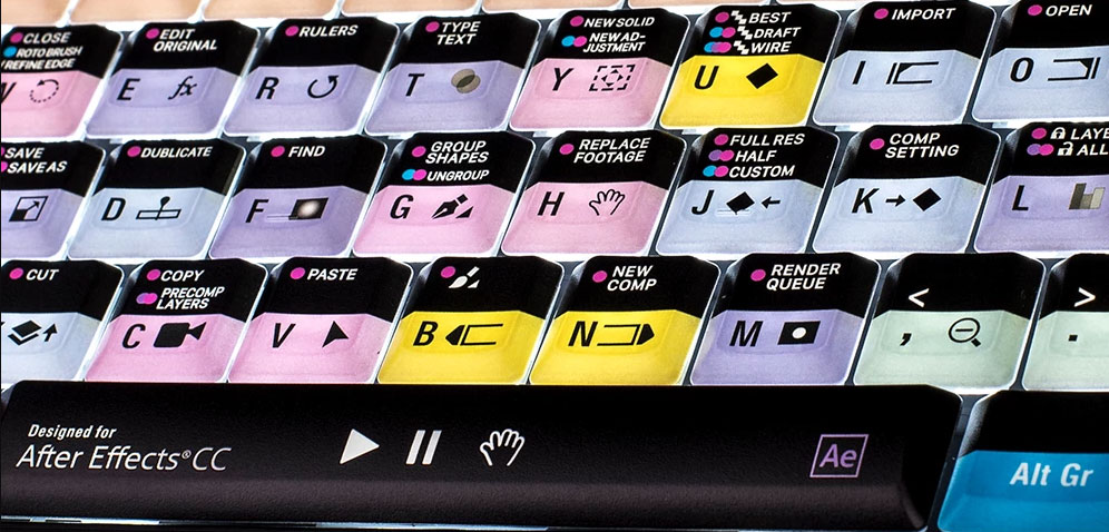 Logickeyboard After Effects CC - PC ASTRA Backlit Keyboard