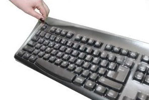 Keytronic Biosafe Anti Microbial Viziflex Seels Keyboard safety Cover
