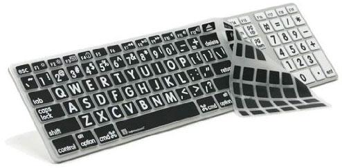 Apple Mac Large Print Full Size Ultra Thin Alu custom Keyboard Cover