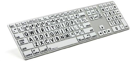 Apple Mac Large Print Keyboard LogicKeyboard Slim USB Wired Keyboard