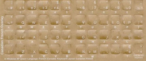 Canadian French Keyboard Language Bilingual Stickers Qwerty