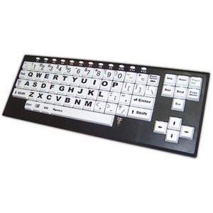 Chester Creek Technologies Large Print on Larger Key Keyboard VisionBoard2 - Keyboard - USB - Black Frame