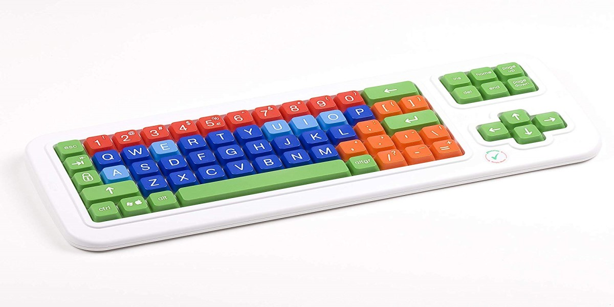 Clevy Color Coded Bluetooth Wireless Mechanical Large Print Keyboard