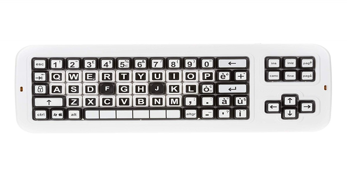 Clevy Italian Contrast Mechanical, Large Print Keyboard, Solid Spill Proof