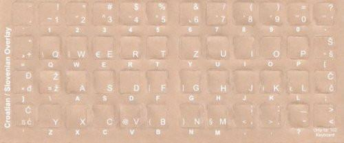 Croatian Computer Keyboard Stickers Labels Overlays White Characters