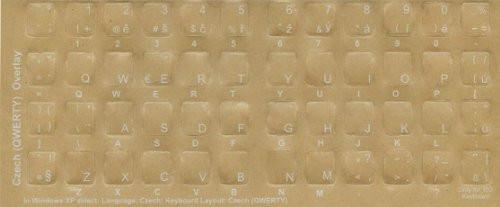 Czech Keyboard Language Stickers - creating bilingual keyboard overlay