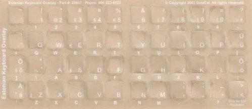 Estonian Keyboard Stickers Desk Accessories Workspace Organizers