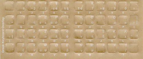 Greek bilingual keyboard Stickers