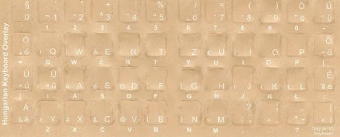 Hungarian Keyboard Stickers - Labels -overlays