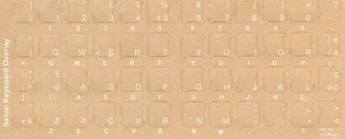 Italian Keyboard Stickers