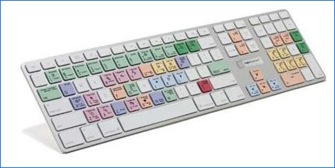 LogicKeyboard Apple Final Cut Studio 2 Color, Full Size Ultra-thin Aluminum Enclosure Keyboard - Wired USB, Molded Keys