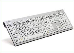 LogicKeyboard Large Print Computer USB Wired Keyboard Slim for Visually Impaired