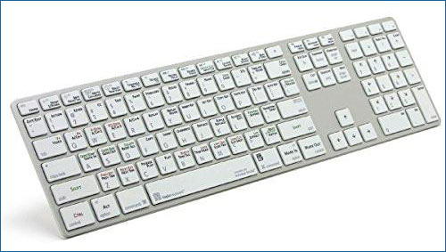 Logickeyboard Autodesk Smoke Apple Advance Alu Keyboard | Ultra Thin Shortcut Keyboard for Autodesk SMOKE - LKBU-SMOKE-AM89-US