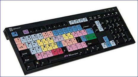 Logickeyboard, Avid Media Composer, Nero Slim Line PC Keyboard