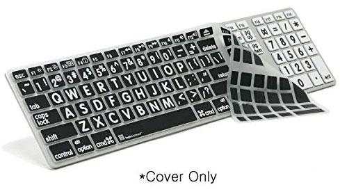 Logickeyboard Large Print  Alu Keyboard Skin Silicone Keyboard Cover