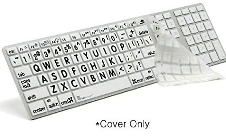 Logickeyboard Large Print Alu Keyboard Skin Silicone Keyboard Cover