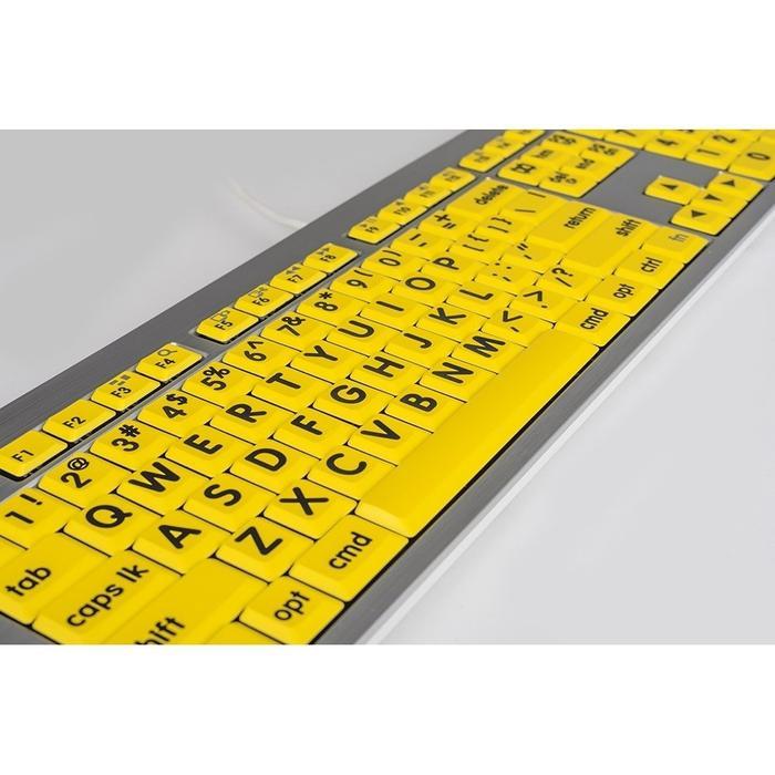 Logickeyboard LKBU-LPRNTBY-CWMU-US, Largeprint Black on Yellow Mac ALBA Keyboard