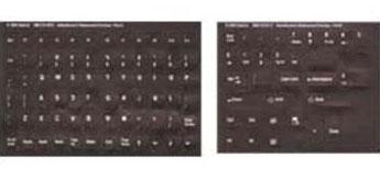 Opaque Dvorak English Keyboard Label Stickers