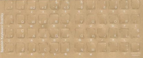 Spanish - International Keyboard Stickers For All Languages bilanguage