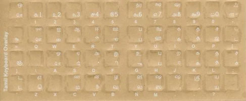 Tamil English USB Keyboard Stickers Language Keyboard Stickers.