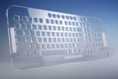 Transparent Sturdy Acrylic Keyguard Custom Made Keyboard cover