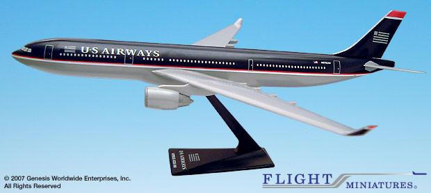 US Airways Airbus A330-300 Airplane Miniature Model Snap Fit