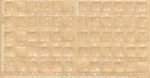 Welsh Keyboard Language bilanguage Stickers - economical - skins