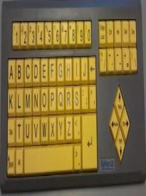 AbleNet BigKeys LX ABC Large Print USB Keyboard - Yellow Keys with Black Characters 12000012