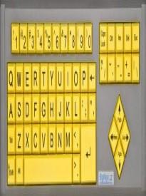 AbleNet BigKeys LX QWERTY Keyboard USB Wired (Yellow Keys with Black Jumbo Oversized Print Letters) (12000012 )
