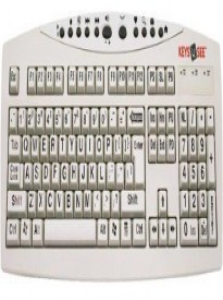 AbleNet Large Print USB Computer Keyboard for Visually Impaired Individuals (YKB-LPI-USB)