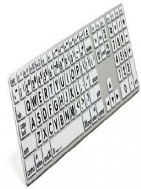 Apple Mac Large Print Keyboard by LogicKeyboard - Large Print Jumbo Characters Slim USB Wired Keyboard - LPRNTBW-AM89