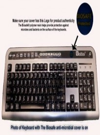 VisiKey Biosafe Anti Microbial Keyboard Custom Design Cover