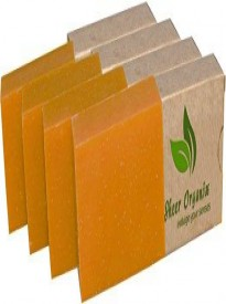 Certified Organic Sheer Organix Rejuvenative Herbal Soap Handmade in the USA, 4 oz. / 113g - 4 pack