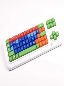Clevy Color Coded Bluetooth Wireless Mechanical Large Print Keyboard, Large Letters and Colorful Keys - 102916